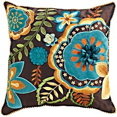 the next pillow for our front room :): Living Rooms, Applies Pillows, Color, Accent Pillows, Pier One, Embroidered Pillows, Applique Pillows, Throw Pillows, Embroidered Appliques