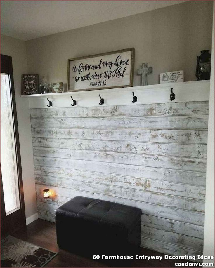 ✓ 60 Farmhouse Entryway Decorating Ideas - Not solely is it the primary area that the attention of a customer beholds, nevertheless it reveals the character of the adorning that's to observe.  #FarmhouseEntrywayDecoratingIdeas #DecoratingIdeas #homedecor
