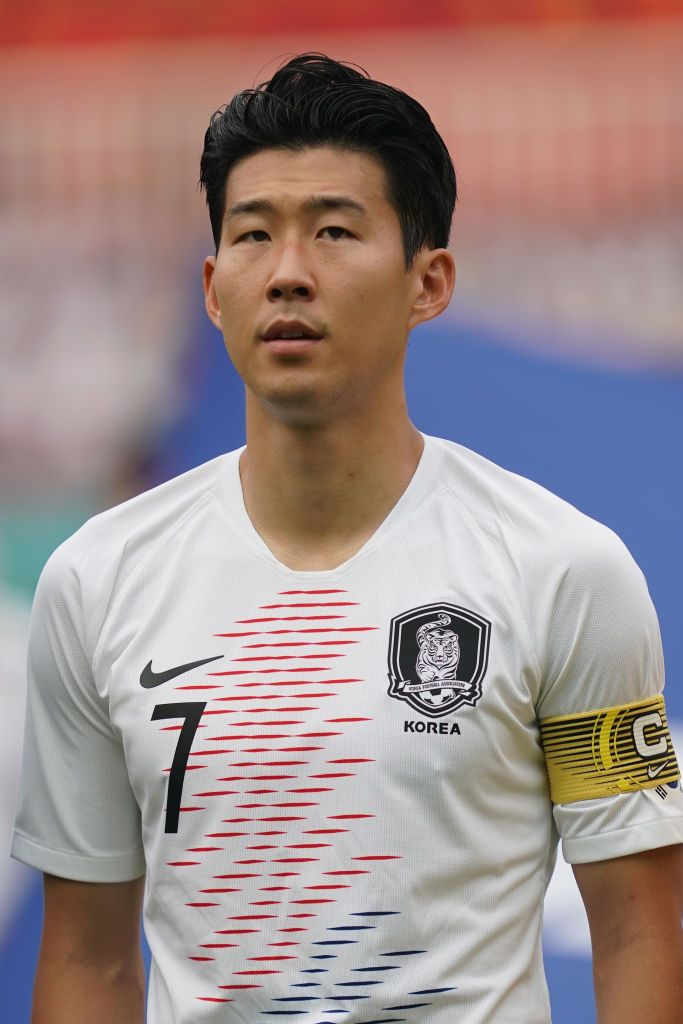Son Heung Min Poses During The Men S Footbal Semi Final Competition Tottenham Soccer Boys Tottenham Hotspur Players