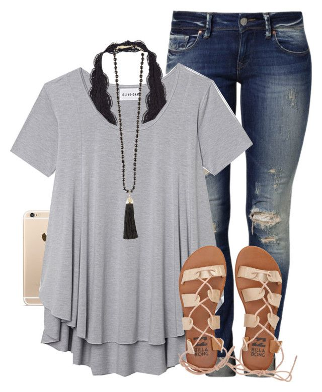 """Isaiah 41:10"" by simplysarahkate ❤ liked on Polyvore featuring Mavi, Olive + Oak, Rosantica and Billabong"