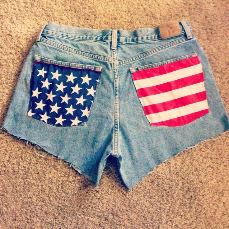 DIY American flag shorts for $3