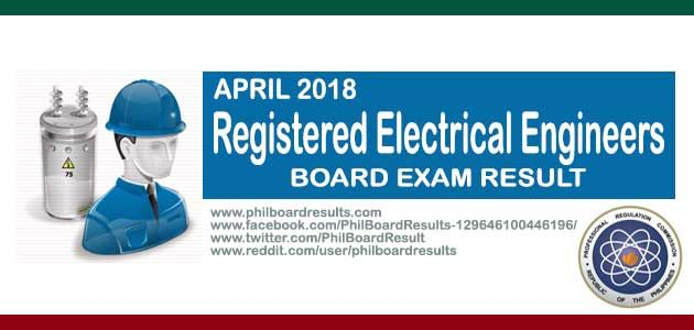 LIST OF PASSERS: April 2018 Electrical Engineers REE Board