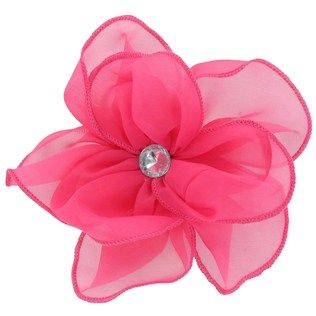 Fashion Tid Bits Hot Pink Sheer Flower Clip with Gem | Shop Hobby Lobby http://shop.hobbylobby.com/