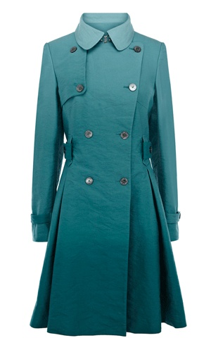 Coats  Jackets | Blue Dip dye trench coat | KarenMillen Stores Limited