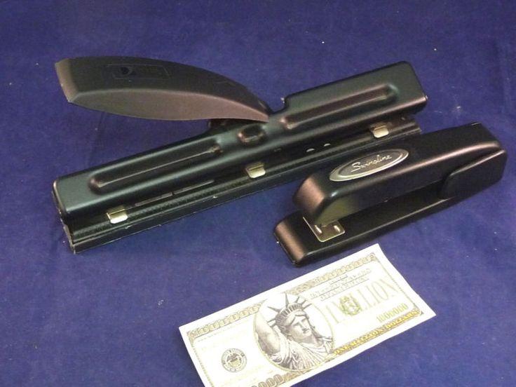 Swingline Stapler AACO 3 Hole Paper Punch Office Desk Accessory Metal
