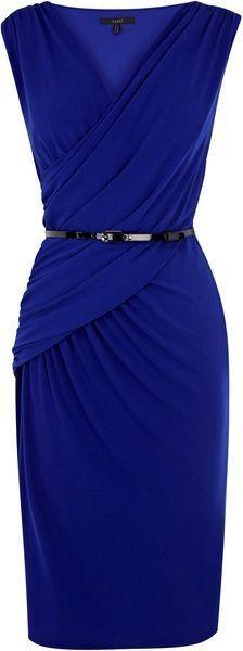 Elegant sapphire classic dress