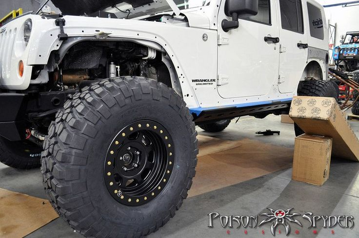 Poison Spyder Build - White Russian JK: Tires are 37X12.50 ...