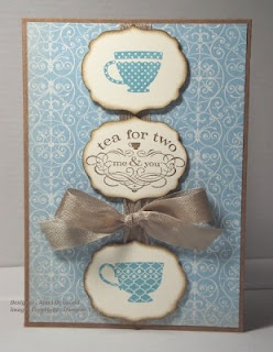 "Card made using the ""Tea Shoppe"" stamp set"