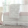 Pink and Gray Damask Crib Bedding | Baby Bedding for Girls in Pink and Gray | Carousel Designs