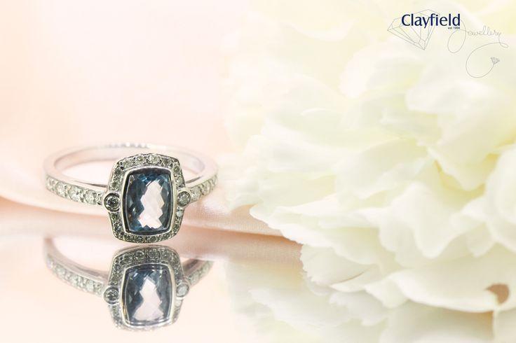 topaz and diamond ring, by Clayfield Jewellery in Nundah Village, North brisbane
