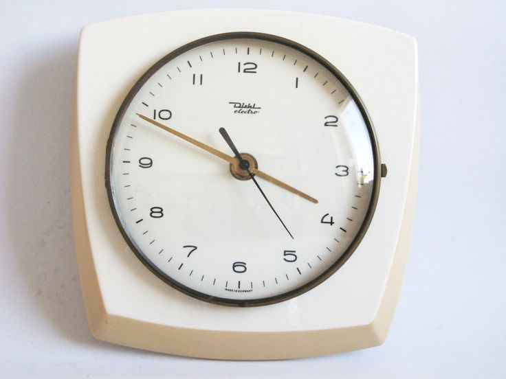 Vintage 1970s Ceramic Kitchen Wall clock DIEHL ELECTRO ...