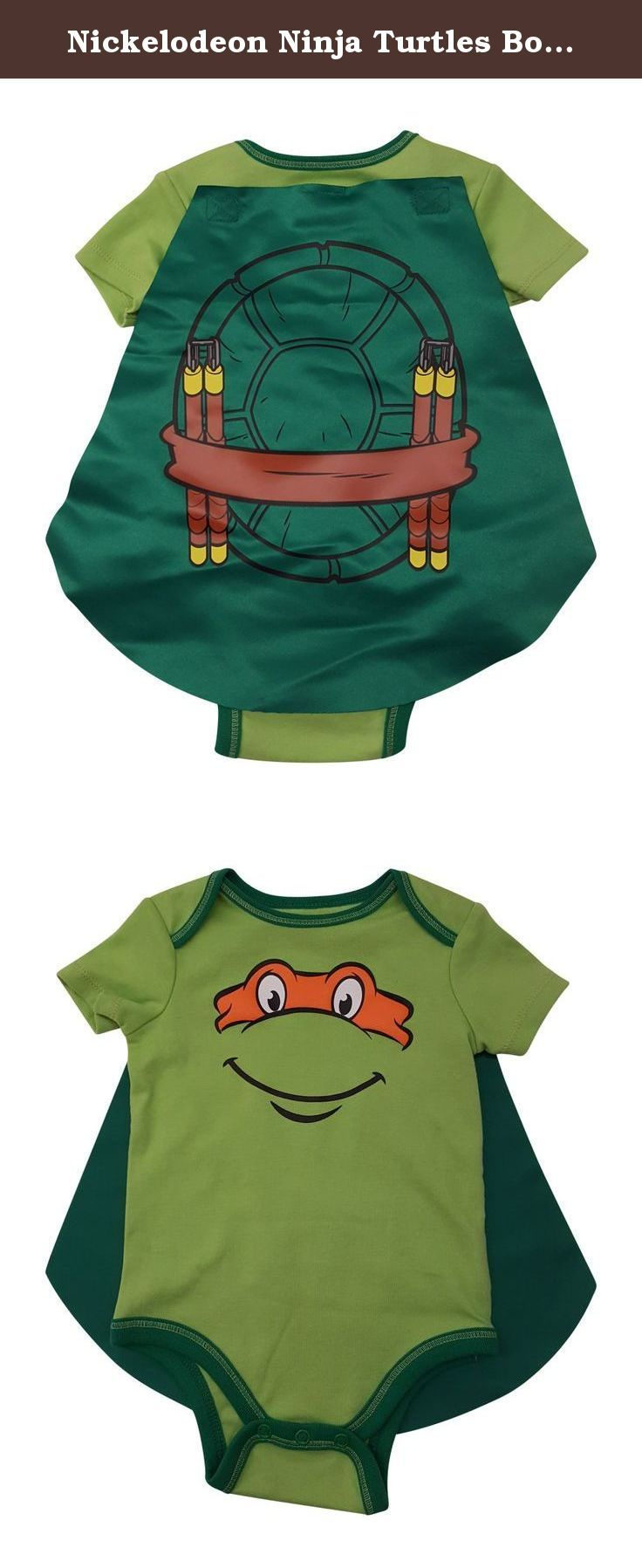 Nickelodeon Ninja Turtles Bodysuit with Cape (0/9months) (0/3 months). 100% Cotton. Machine Wash. Detachable cape.