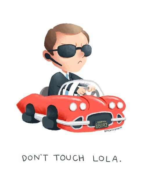 Don't touch Lola. via: http://rockinrobindraws.tumblr.com/post/75979346540
