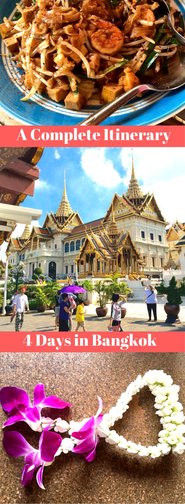 A complete 4 day Itinerary for Bangkok which includes the floating markets, nightspots, the Grand Palace, weekend markets, a muay thai flight, ladyboy cabaret and more!