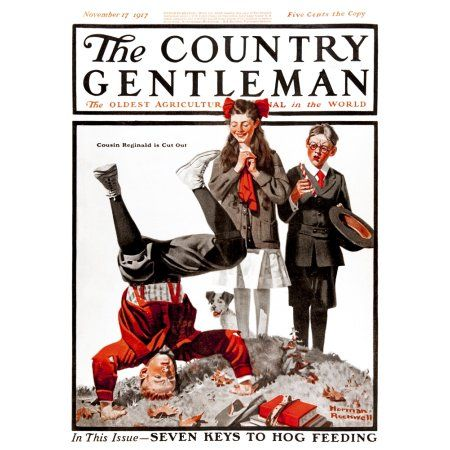 Cover of Country Gentleman agricultural magazine from the early 20th century Canvas Art - Remsberg Inc Design Pics (13 x 18)