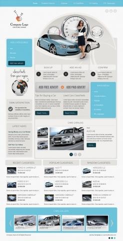 DJ-Car-Company - blue template version