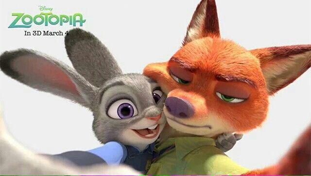 Ausmalbild Nick Und Judy Hopps Aus Zootopia: Zootopia #Nick #Judy #selfie