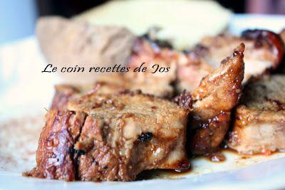Le coin recettes de Jos: FILETS DE PORC AU MIEL ET AU VINAIGRE BALSAMIQUE vraiment délicieux à refaire