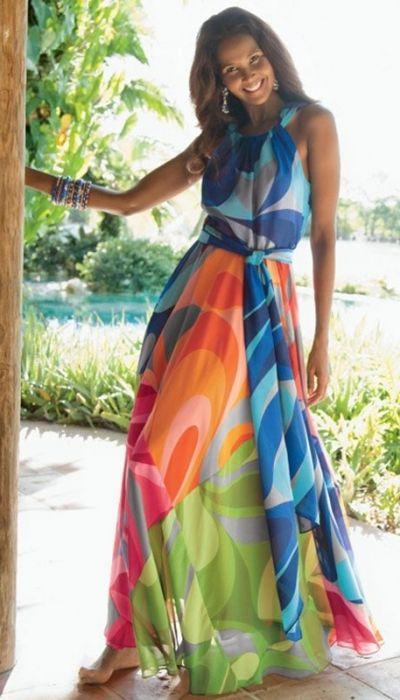3c10345b0 O que usar nas festas na praia | @DeFrenteParaOmar-MODA | Looks, Look  vestido longo e Look