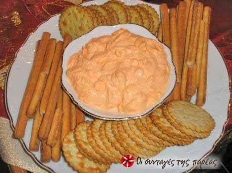 Ντιπ με τυρί κρέμα και πιπεριές Φλωρίνης