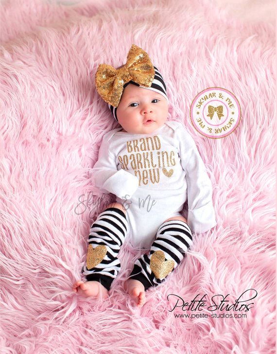 BRAND SPARKLING NEW, Newborn Girl Coming Home Outfit, baby coming home outfit…
