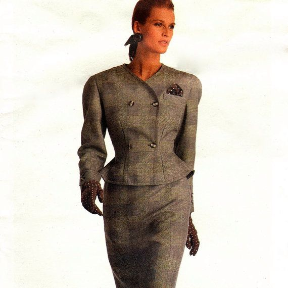 1980s Bill Blass jacket & skirt pattern  Vogue by PatternVault, $12.00