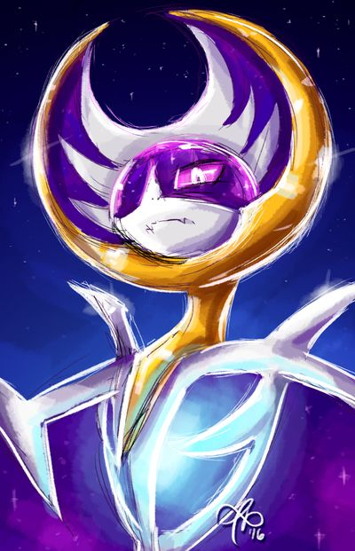 I've had this sketch of Lunala sitting in my folder for months and never figured out what to do with it until now. my bro helped me out with this one as well and that gave me the drive to finish it...