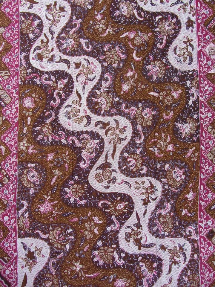 Vintage batik saroong, pattern named Tambal. Indonesian batik