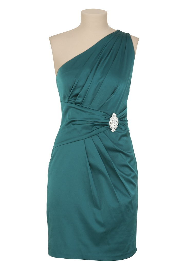 Maurices One Shoulder Dress with Brooch