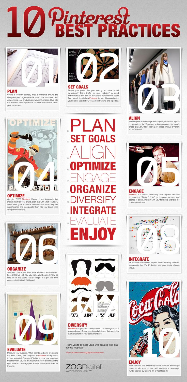 Pinterest best practices - or at least 10 good ideas...