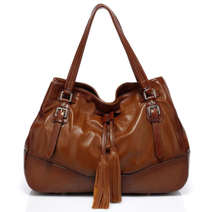 Vicenzo Leather Madonna Handbag Italian Designer Brown Hobo Bag ...