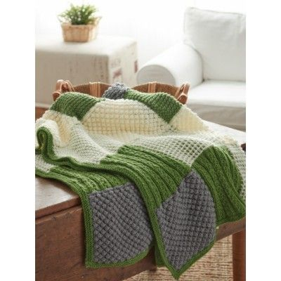 Knitting Afghan Patterns Pinterest : Textured Afghan Patchwork Crochet/Knitting Pinterest ...