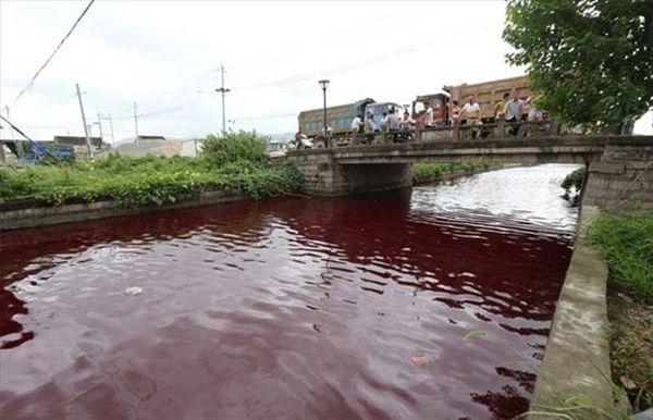 """Hãi hùng dòng sông Trung Quốc hóa """"màu máu người"""" chỉ sau 1 đêm - Tin Nhanh Trong Ngày, Tin Tức Trong Ngày, Tin 24h, News day, Tin bóng đá, Tin xã hội, Tin thể thao"""