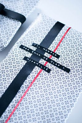 Dymo + IKEA gift-wrap.