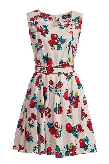 Vestido Estampado Elise Cereja - Mulheres Vestidos curtos - Birdsnest Online Fashion Loja