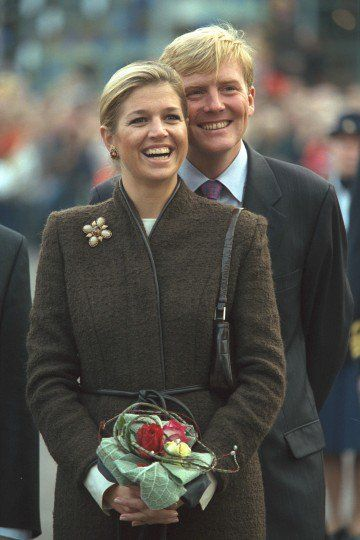 The Prince and Máxima visit Zeeland, 25th October 2001.
