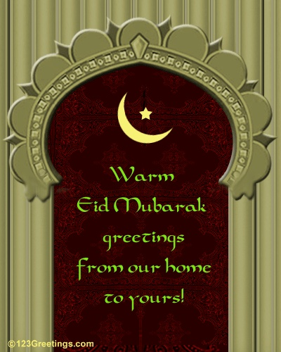 From our home to yours, we send you the warmest of Eid blessings. Eid Mubarak!