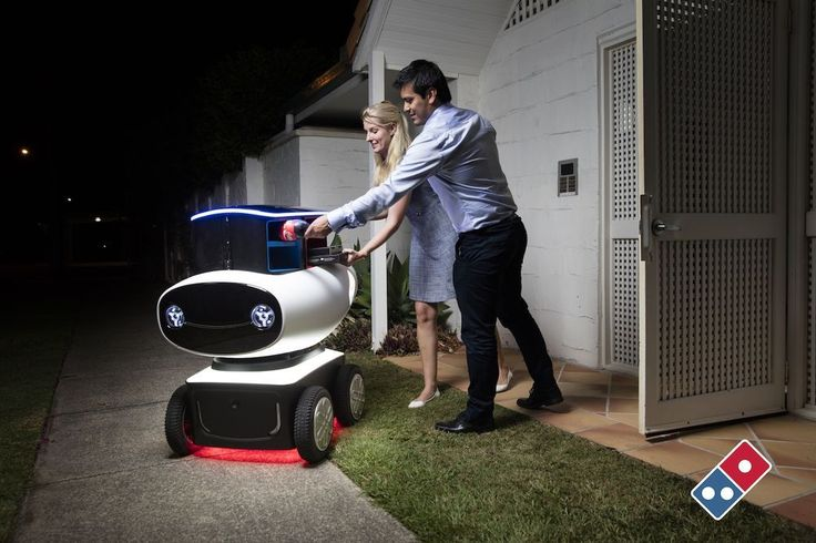 Meet DRU the world's first autonomous delivery vehicle by Domino's pizza ! Domino's Australia