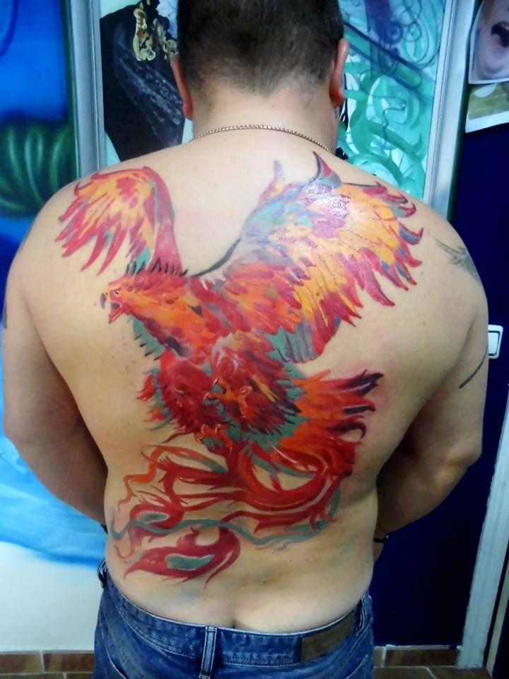Phenix by Tulipan in Salvador Tattoo & Art in Marbella, Spain