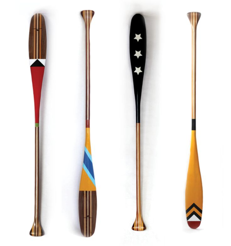 How cool would a bunch of retired but refinished paddles be on the side of the lodge or attached to the rails of the canoe dock?