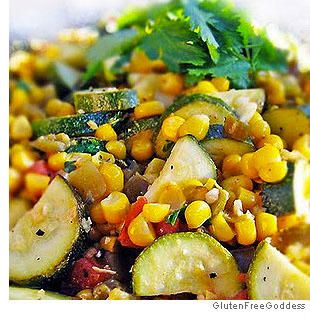 Calabasitas with Corn, Zucchini, Green Chilies and Lime- gluten free, and perfect for picnics, or even over lettuce for a light, delicious salad.