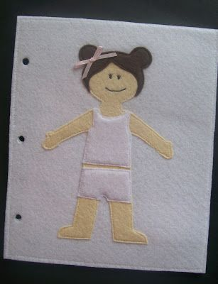 Dress up doll quiet book page.  Links to templates.  Lots of other pages too ..mdb