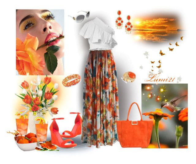 SUMMER by lumi-21 on Polyvore featuring CECILIE Copenhagen, Chicwish, ALDO, Roger Vivier, Palm Beach Jewelry, Kenneth Jay Lane, DeLatori, Gucci, Lenox and Lake