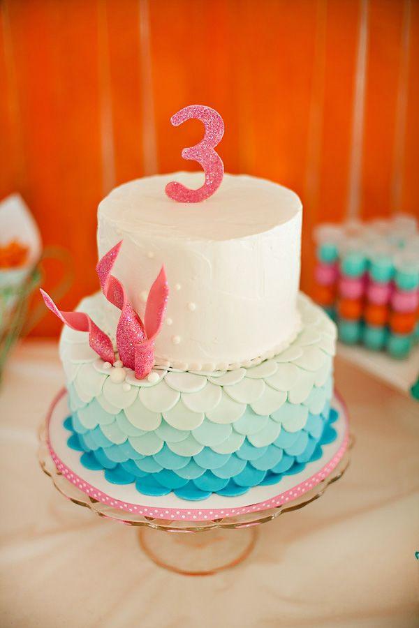 Tartas de cumpleaños - birthday Cake - Ombre Under the Sea Cake