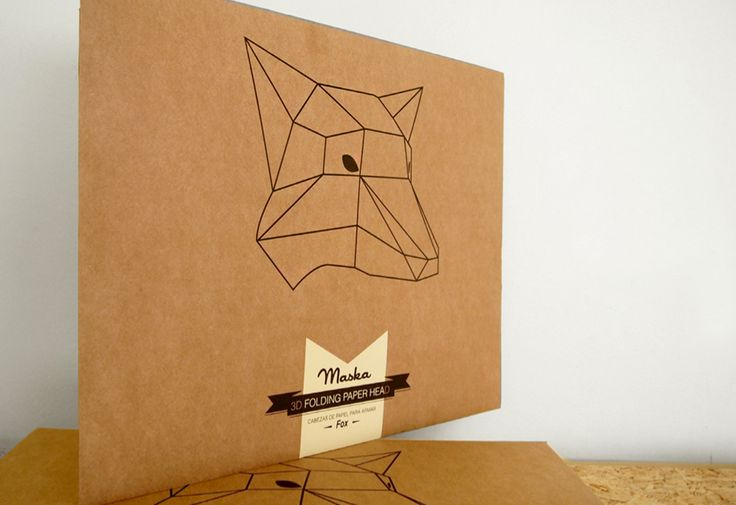 Animal paper mask designed by Soroche Lab. A paper-folding product that creates…