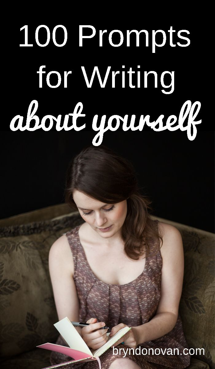 100 Prompts for Writing About Yourself... for bloggers, writers, teachers, and more. Great for overcoming writer's block! #writing prompts #journal ideas #creative writing exercises #teaching #improv