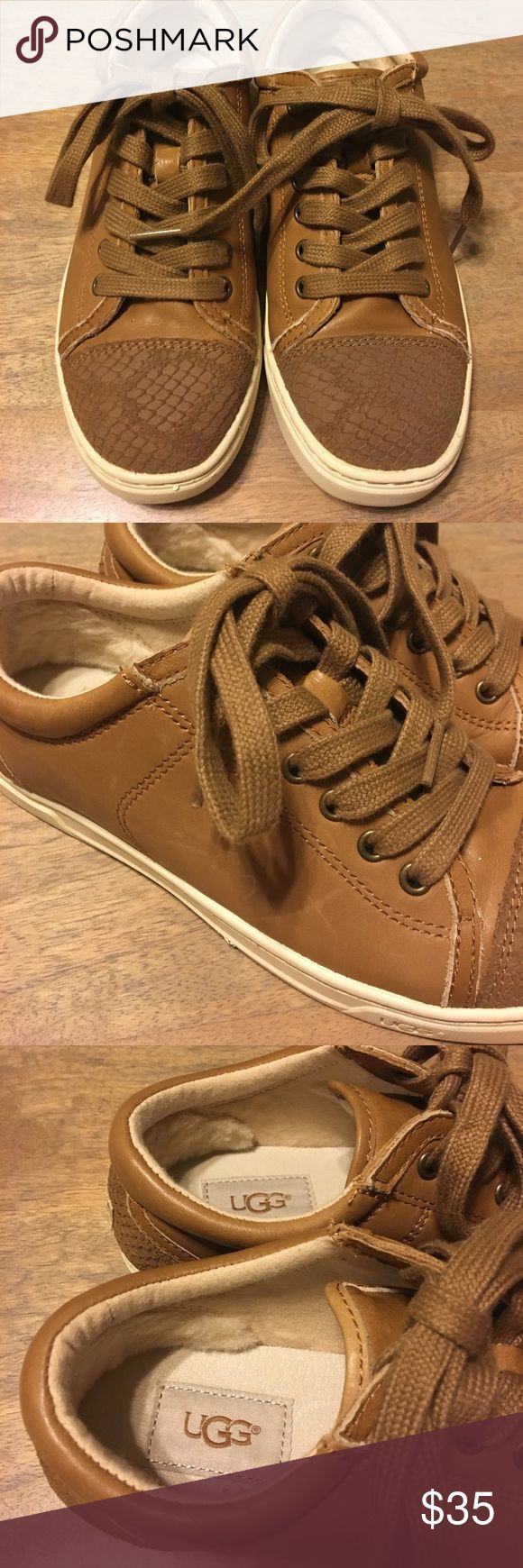 UGG sneaker Worn few times in great condition. Slight scratch side (see picture #2). No box. UGG Shoes Sneakers