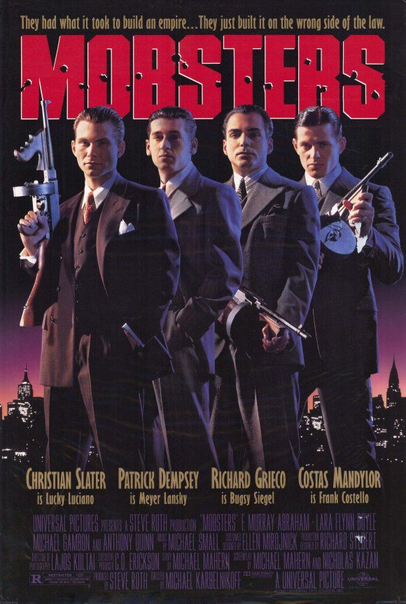 Mobsters , starring Christian Slater, Patrick Dempsey, Costas Mandylor, Richard Grieco. The story of a group of friends in turn of the century New York, from their early days as street hoods to their rise in the world of organized crime... #Crime #Drama