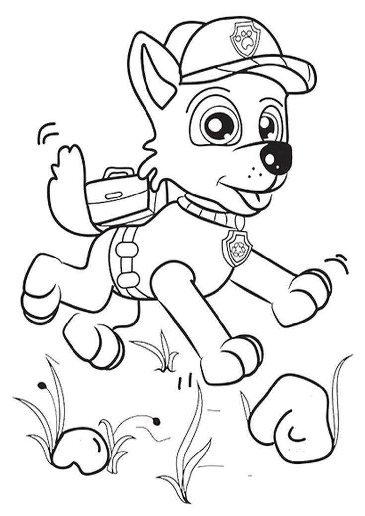 Kolorowanka Psi Patrol Malowanka Dla Dzieci Nr 8