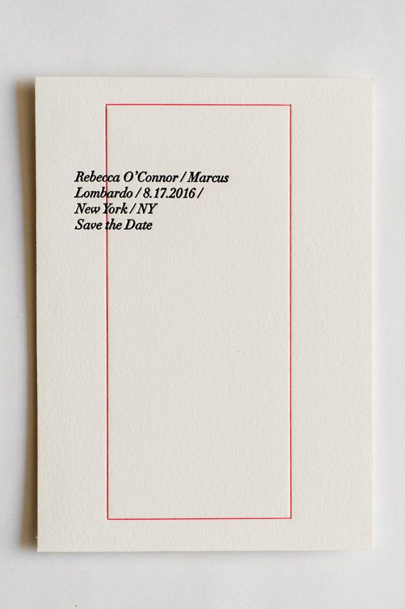 Letterpress Wedding Invitation Rebecca by MiksLetterpressPlus
